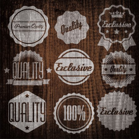 Illustration for Quality and guaranteed - vector signs, emblems and labels - Royalty Free Image