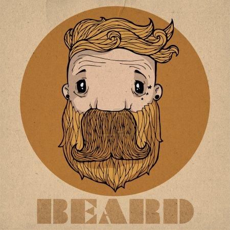 Beard icon vector illustration