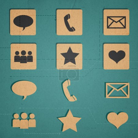 Communication icons set vector illustration
