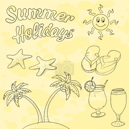 Photo for Summer holidays picture vector illustration - Royalty Free Image