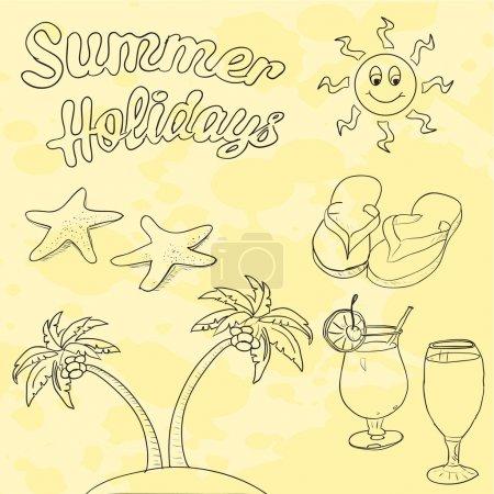 Illustration pour Illustration vectorielle des vacances d'été - image libre de droit