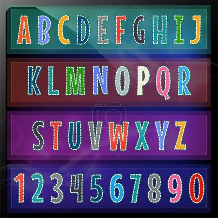 Illustration pour Illustration vectorielle de l'alphabet artistique - image libre de droit