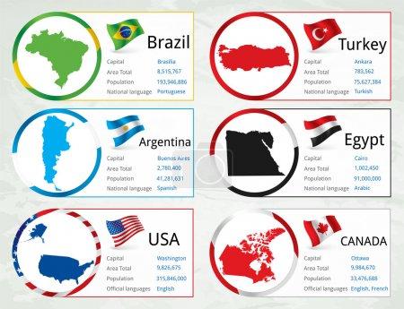 Vektorflaggen setzen Vektorillustration