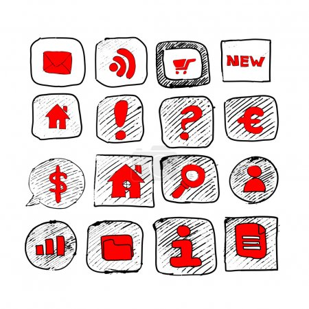 Web icons sketch set