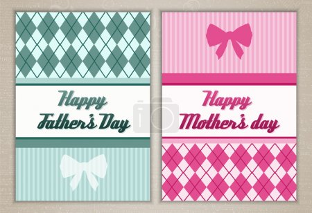 Happy mother's and father's day cards