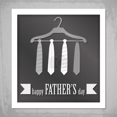 Illustration pour Bonne photo de la fête des pères - image libre de droit