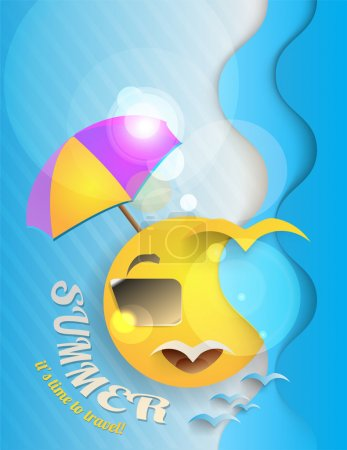 Photo for Summer holiday background vector illustration - Royalty Free Image