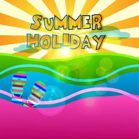 Summer holiday signs set
