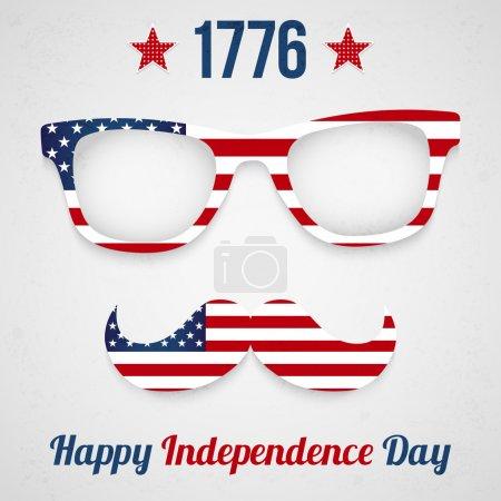 Photo pour Conception de la carte postale du jour de l'indépendance - image libre de droit