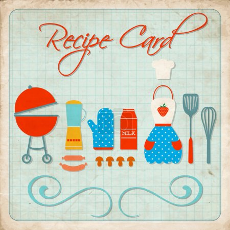 Recipe card vector illustration