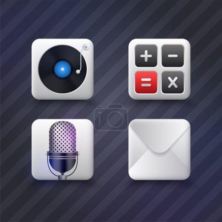 Illustration pour Icônes web illustration vectorielle - image libre de droit
