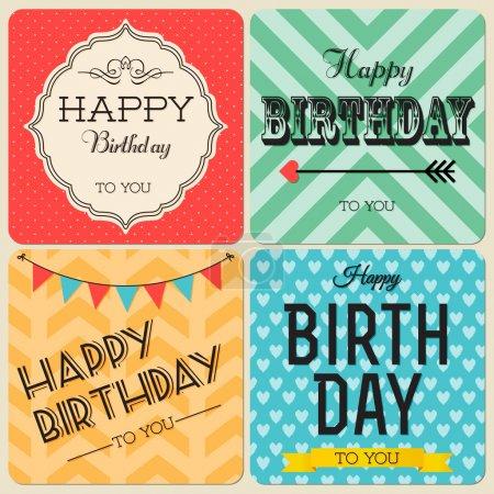 Photo pour Joyeux anniversaire cartes de voeux ensemble - image libre de droit