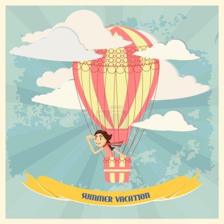 Illustration pour Illustration vectorielle de bannière de fond vacances d'été - image libre de droit