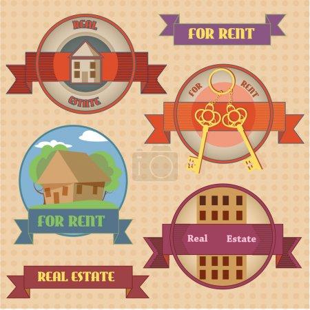 For rent signs  banner vector illustration