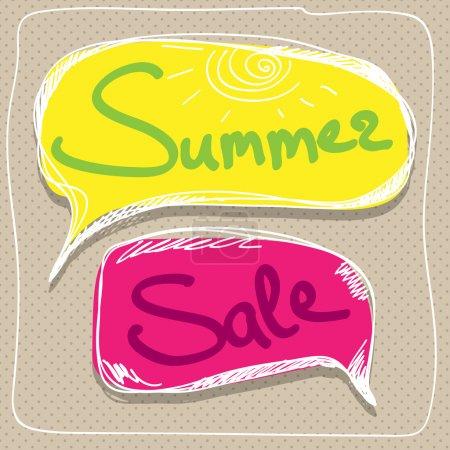 Illustration for Summer sale Speech Balloons - Royalty Free Image