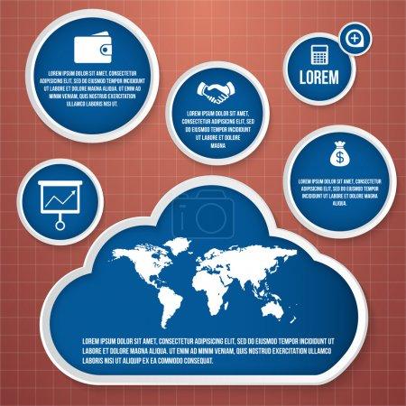 Illustration pour Illustration vectorielle de bannière infographique - image libre de droit