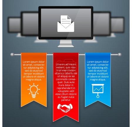 Illustration for Website  banner vector illustration - Royalty Free Image