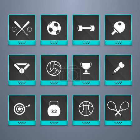 Photo for Sports web buttons set - Royalty Free Image