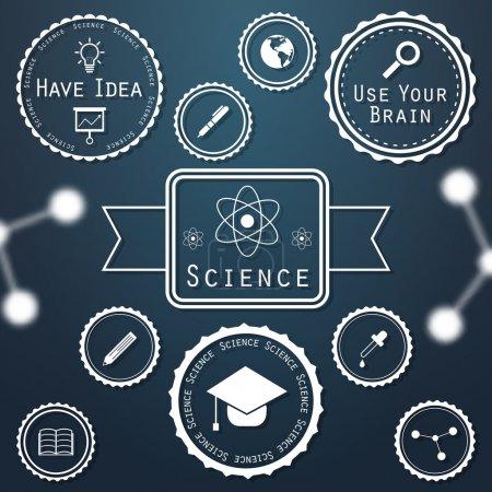 Wissenschaft Banner Vektor Illustration