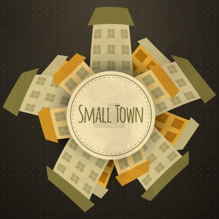 town  banner vector illustration