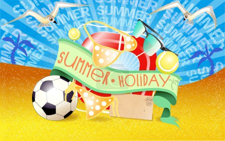 Photo for Summer  banner vector illustration - Royalty Free Image