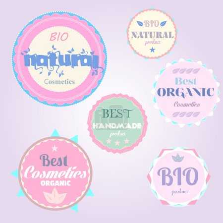 Organic cosmetics vintage labels