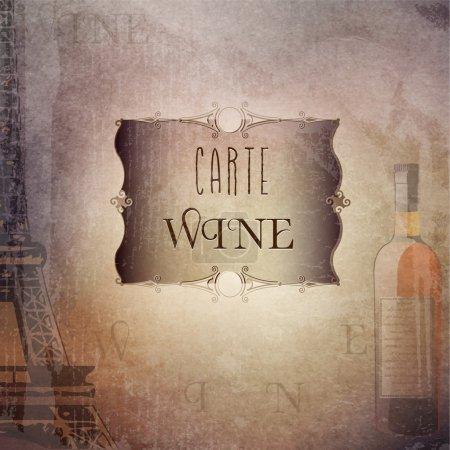 Illustration pour Illustration vectorielle de bannière de vin - image libre de droit