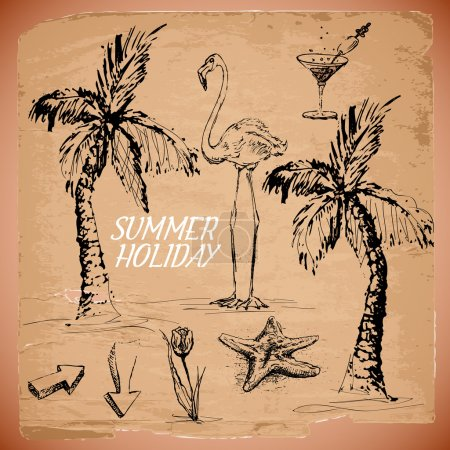 summer  banner vector illustration