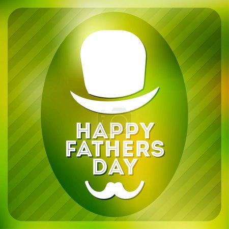 Illustration pour Étiquette fête des pères heureux - image libre de droit
