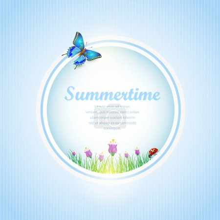 Photo for Summer time  banner vector illustration - Royalty Free Image