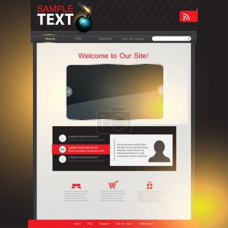 site  banner vector illustration