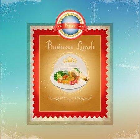Business lunch menu template