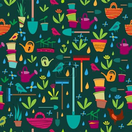 Illustration pour Illustration vectorielle de bannière de jardin - image libre de droit