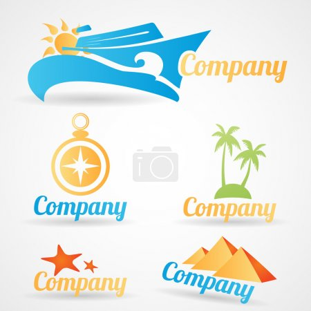 Collection of vector logos for travel tourist companies