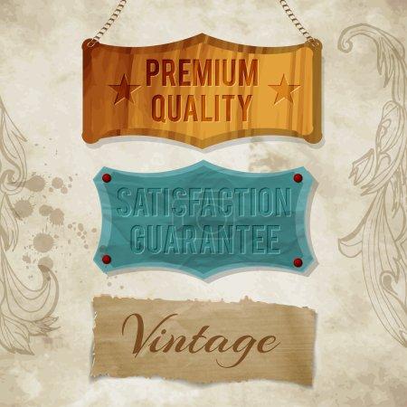 Étiquettes vectorielles vintage à usage commercial