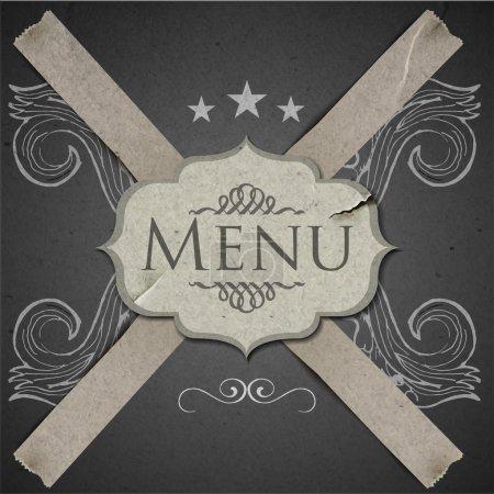 Grunge Vector template for menu restaurant