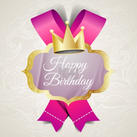 Photo pour Illustration pour carte d'anniversaire. Image vectorielle - image libre de droit