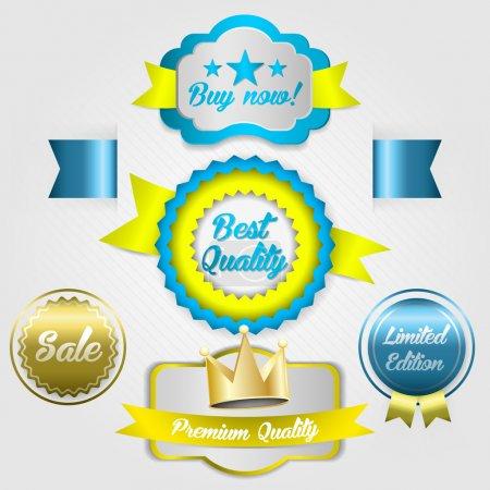 Illustration for Set of labels for internet shopping - Royalty Free Image