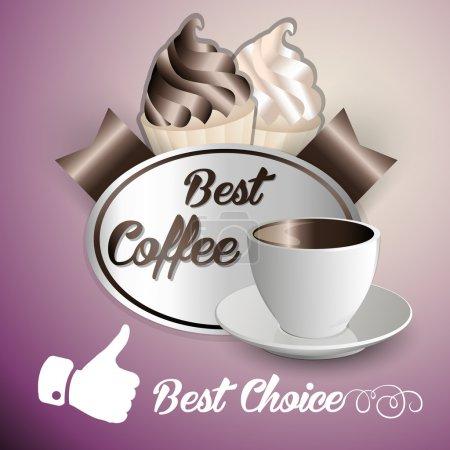 Illustration pour Contexte de la crème glacée au café - image libre de droit