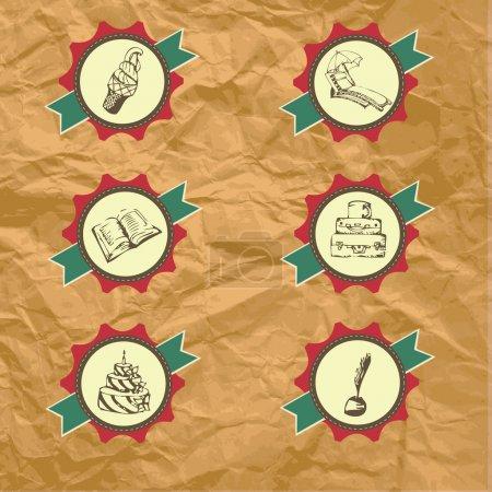 Illustration pour Jeu d'étiquettes vectorielles - image libre de droit