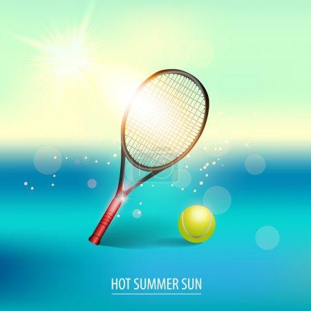 Vektor-Illustration von Tennisartikeln