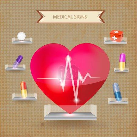 Illustration pour Signe médical de premiers secours. Illustration vectorielle - image libre de droit