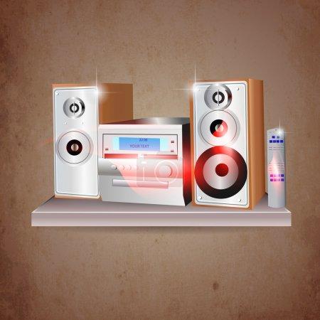 music stereo vector illustration