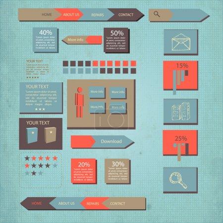 Illustration for Business banner vector illustration - Royalty Free Image