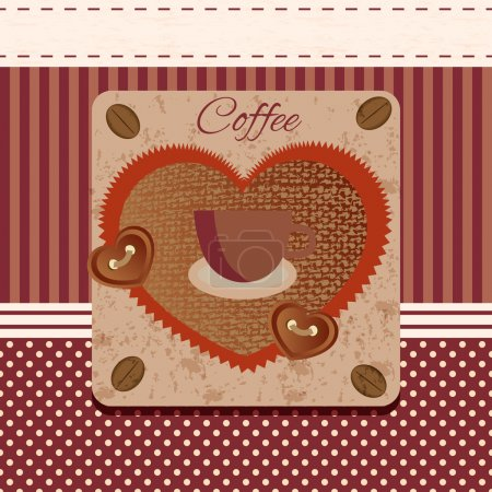 Illustration for Vector coffee grunge with a cup - Royalty Free Image