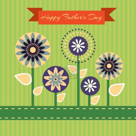 Photo for Happy fathers day card vintage retro - Royalty Free Image