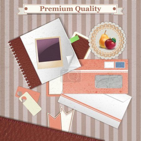 Illustration pour Fond vintage qualité premium - image libre de droit