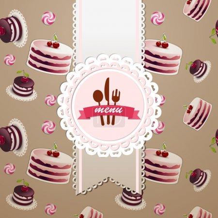 Cupcakes und Bonbons nahtlose Muster