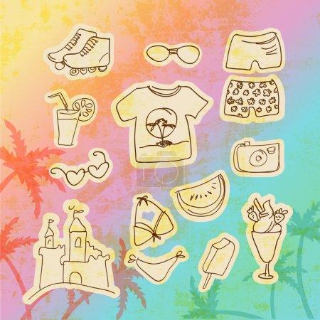 jeu vectoriel d'icônes de voyage