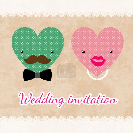 Vektor für Hochzeitseinladungskarten